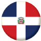 Dominican Republic Country Flag 25mm Pin Button Badge